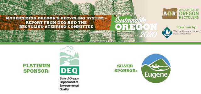 Modernizing Oregon's Recycling System – Report from DEQ and the Recycling Steering Committee